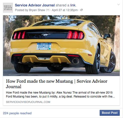 service advisor journal